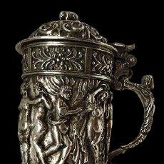 Antigüedades: JARRA DE PLATA, ORFEBRERÍA. Lote 286011038