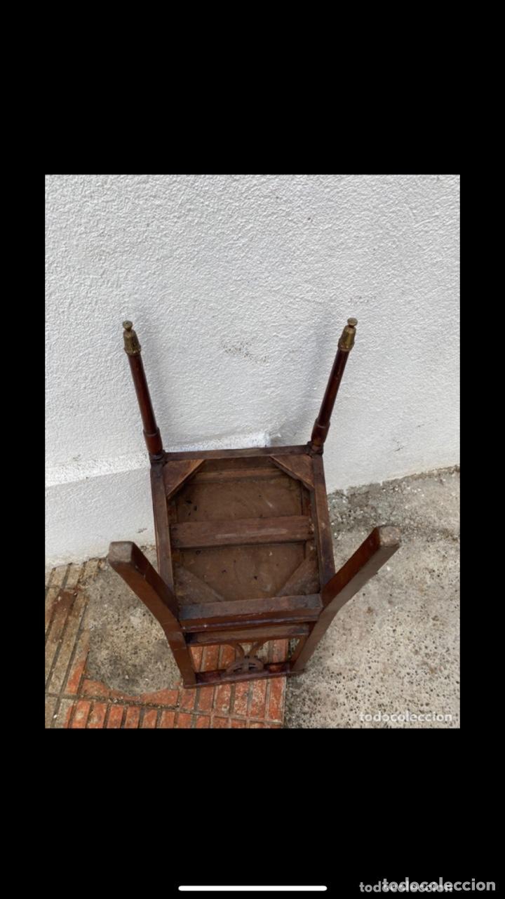 Antigüedades: Conjunto sofá 3 plazas y 6 sillas madera años 50 . Buen estado. Ver fotos - Foto 15 - 286156838