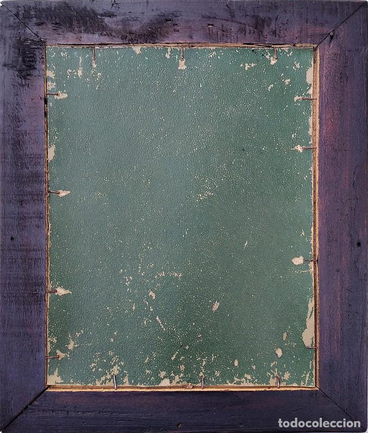 Antigüedades: Precioso y Antiguo Sagrado Corazon de Jesús labrado en cobre plateado - Foto 2 - 286162353
