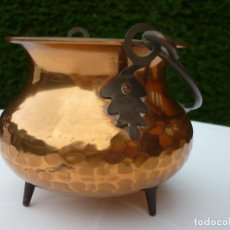 Antigüedades: PEQUEÑA OLLA DE COBRE. Lote 286171253