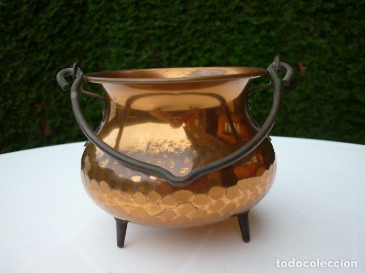 Antigüedades: PEQUEÑA OLLA DE COBRE - Foto 2 - 286171253