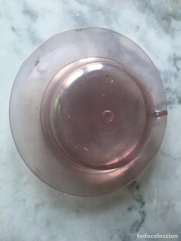 Antigüedades: Conjunto de tazas y platos en cristal soplado,Italia - Foto 7 - 286194058