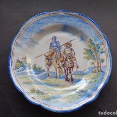 Antiquités: ANTIGUO PLATO DE TALAVERA. NIVEIRO. Lote 286259653