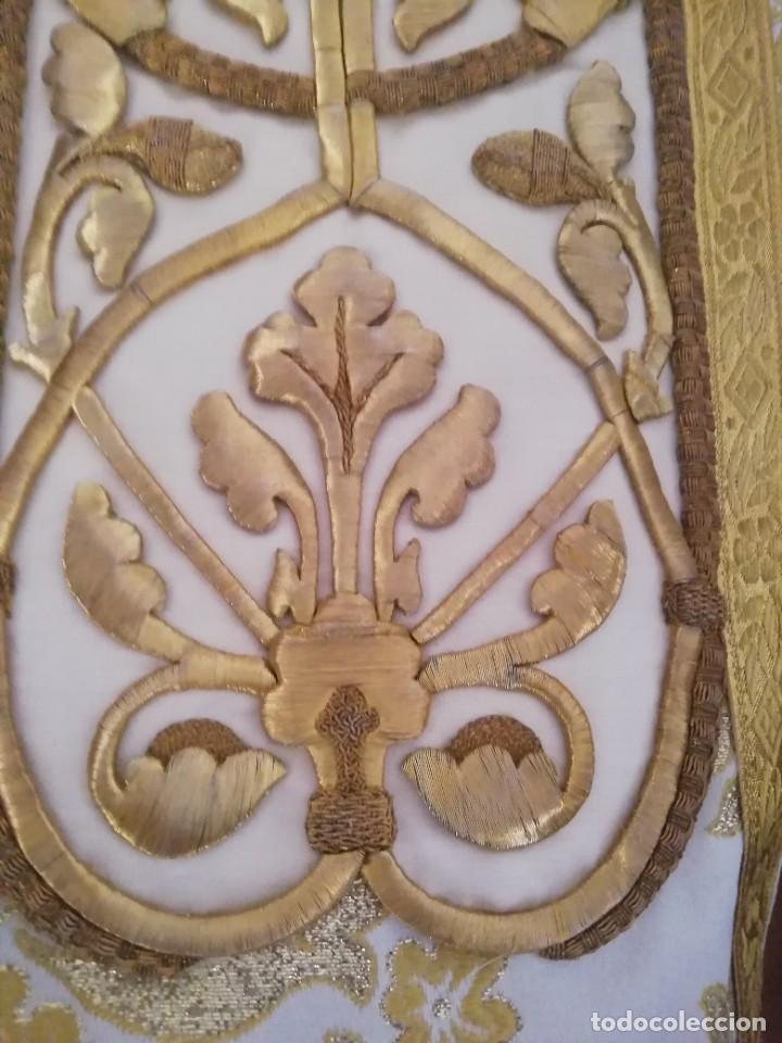 Antigüedades: CASULLA CON TODOS LOS COMPLEMENTOS - Foto 16 - 286275178