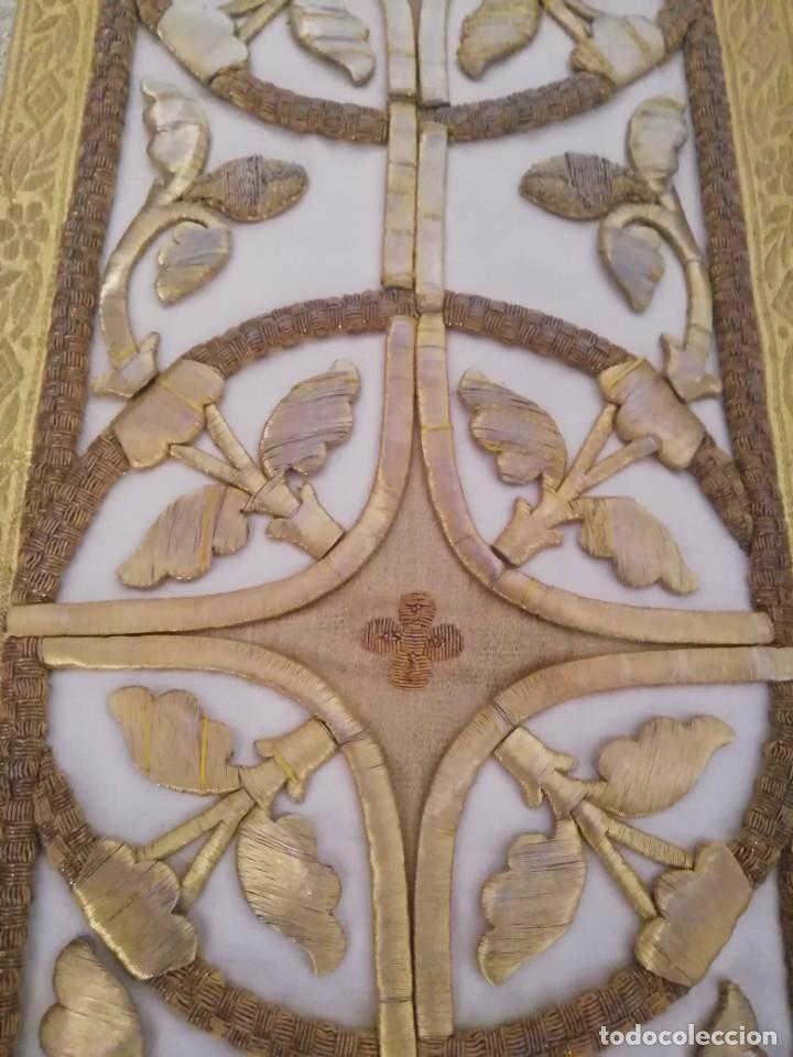 Antigüedades: CASULLA CON TODOS LOS COMPLEMENTOS - Foto 17 - 286275178