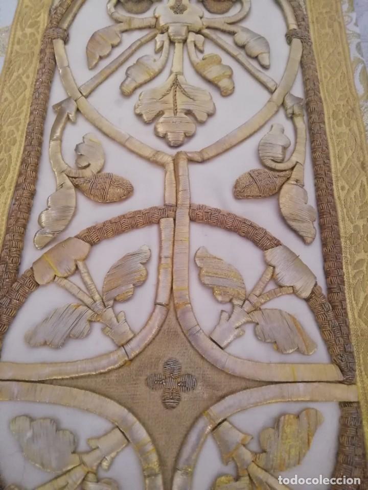 Antigüedades: CASULLA CON TODOS LOS COMPLEMENTOS - Foto 18 - 286275178