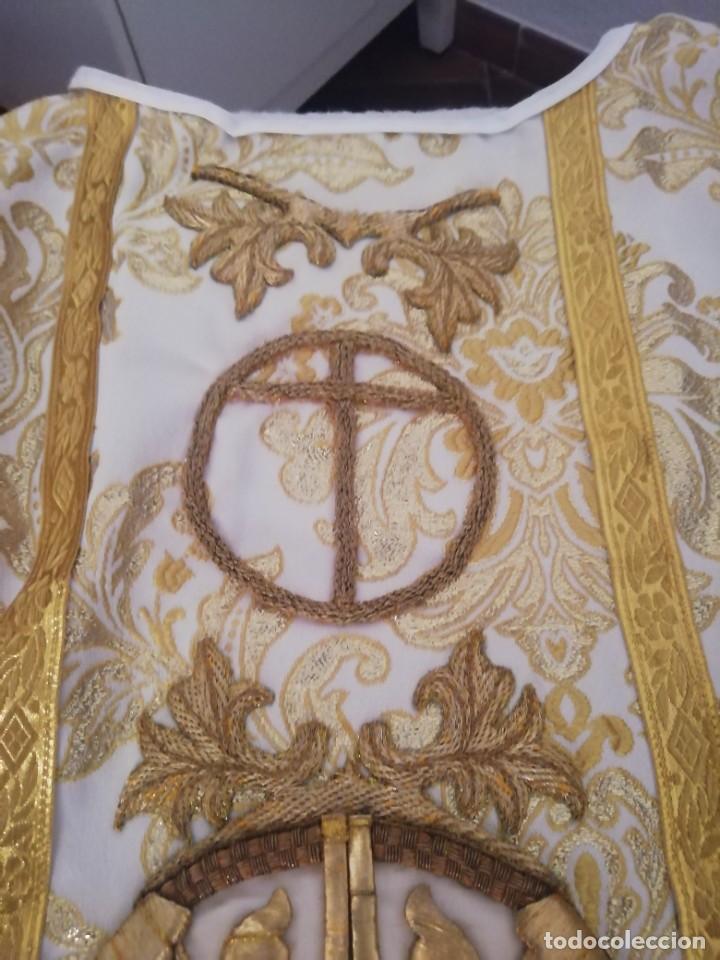 Antigüedades: CASULLA CON TODOS LOS COMPLEMENTOS - Foto 22 - 286275178