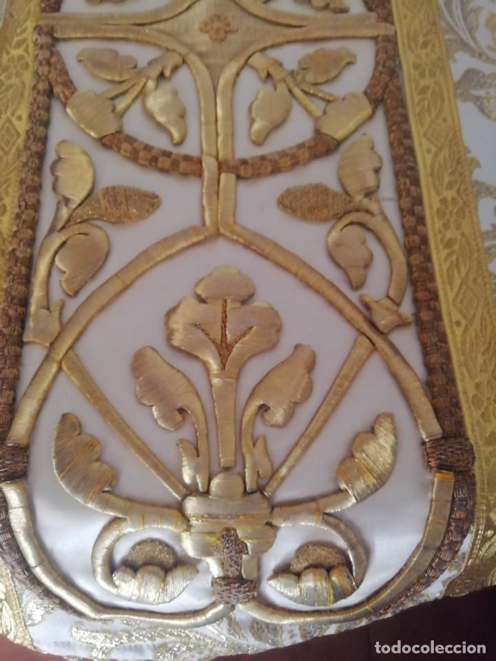 Antigüedades: CASULLA CON TODOS LOS COMPLEMENTOS - Foto 26 - 286275178