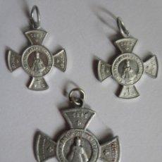 Antigüedades: LOTE DE 3 MEDALLAS RELIGIOSAS , VER FOTOS. Lote 286287993