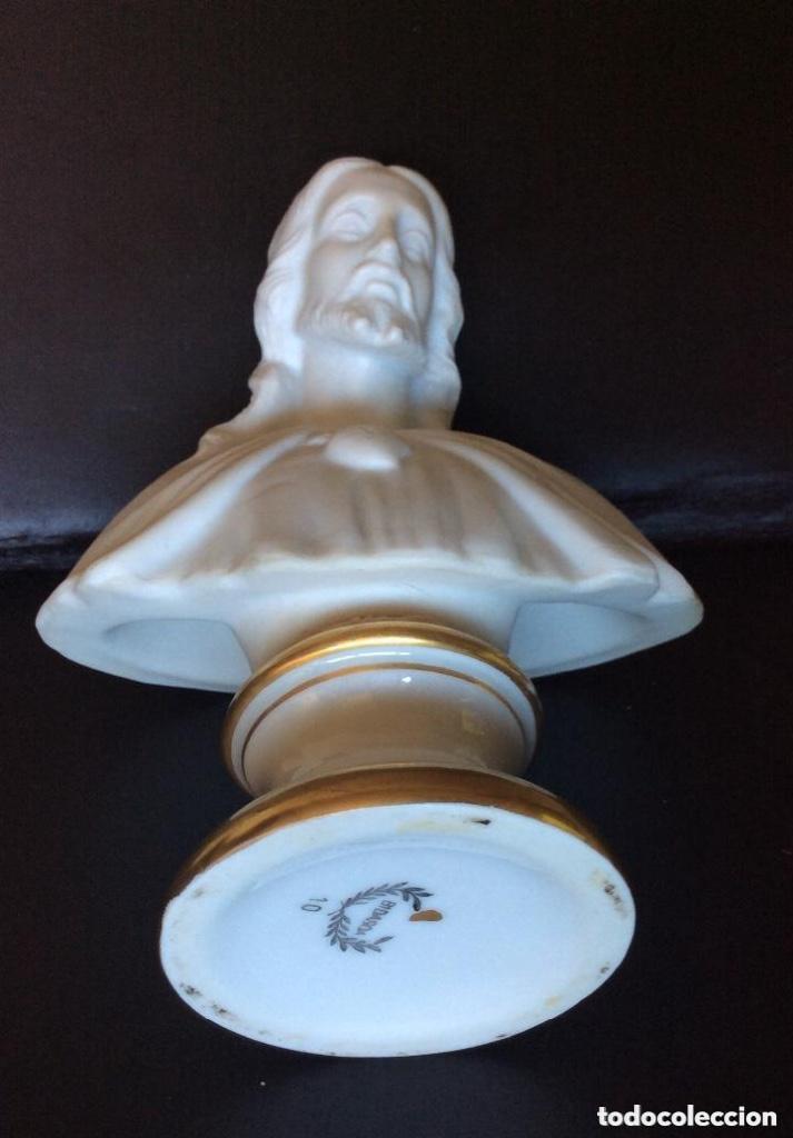 Antigüedades: Busto del Sagrado Corazón en Porcelana de Bidasoa ,Marca en Base - Foto 2 - 286297098