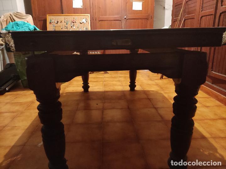 Antigüedades: MESA DE BILLAR - SIGLO XIX - RELIQUIA - Foto 5 - 286308708