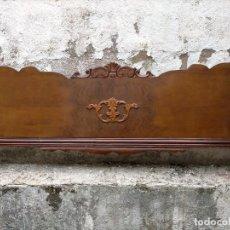 Antigüedades: CABECERO Y PIECERO CAMA. Lote 286311423