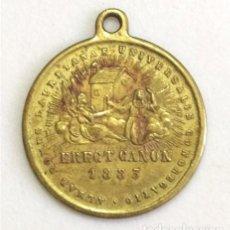 Antigüedades: MEDALLA RELIGIOSA DE LA VIRGEN DE LORETO Y CONGREGACIÓN LAURETANA. FECHADA EN 1883. Lote 286320423