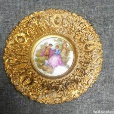 Antigüedades: PLATO ANTIGUO DE BRONCE. Lote 286334063