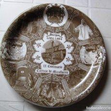 Antigüedades: PLATO CONMEMORATIVO DEL IX CENTENARIO DE LA CARTUJA DE MIRAFLORES-BURGOS-. Lote 286343593