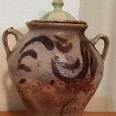 Antigüedades: ORZA OLLA CERÁMICA GRANADA ANDALUCÍA FAJALAUZA DECORACIÓN EN MANGANESO.. Lote 286371423