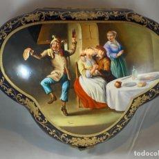 Antigüedades: ENORME CAJA DE PORCELANA. SEVRES, ESTILO. FRANCIA. SIGLO XIX-XX. Lote 286408203