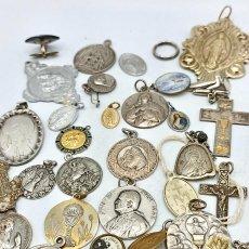 Antiquités: COLECCIÓN DE MEDALLAS RELIGIOSAS. LA MAYORÍA EN PLATA. PRINCIPIOS DEL SIGLO XX. Lote 286427033