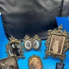 Antiquités: COLECCION MARCOS ANTIGUOS Y PORTAFOTOS DE BRONCE Y UNO DE PLATA. Lote 286474778