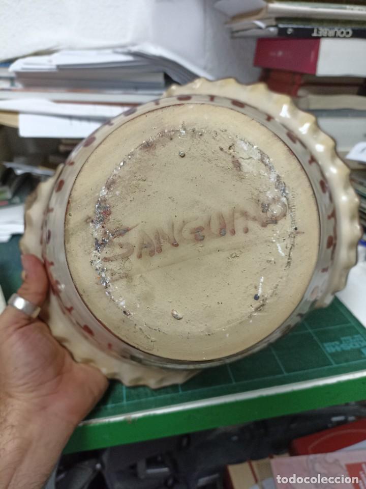 Antigüedades: Cerámica. cesta . Sanguino. 30 cms - Foto 3 - 286493288