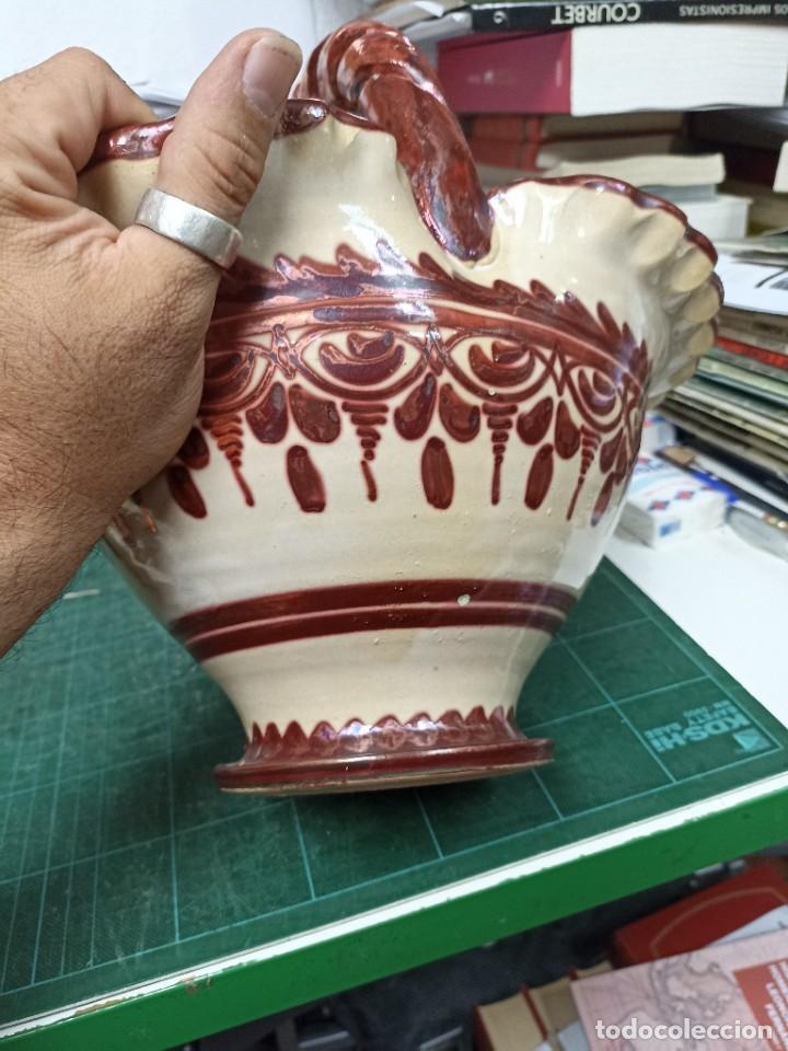 Antigüedades: Cerámica. cesta . Sanguino. 30 cms - Foto 4 - 286493288