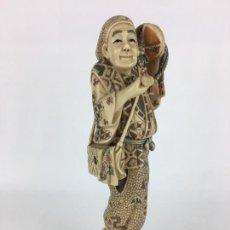 Antiguidades: FIGURA ESCULTURA JAPONESA. Lote 286523358