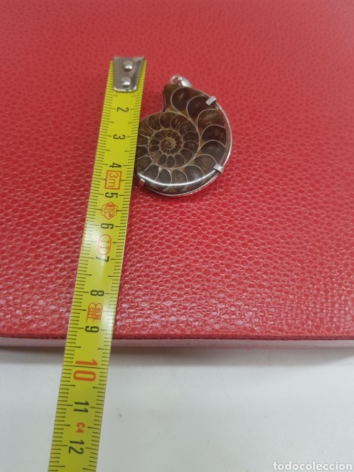 Antigüedades: Colgante de plata con piedra natural forma caracol pesa 18 gramos - Foto 4 - 286546183