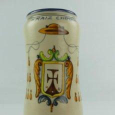Antiquités: ALBARELO DE FARMACIA RAIZ CHINA EN CERAMICA DE TALAVERA DE LA REINA. Lote 286565223