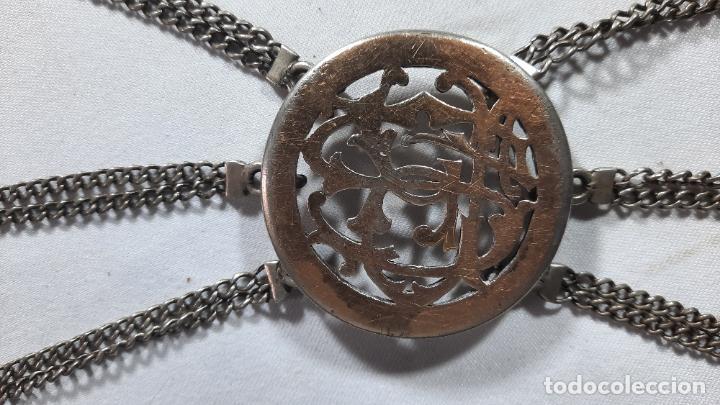 Antigüedades: hebilla de gaucho en plata de ley dorada siglo xix 170gr, rastra - Foto 3 - 286665868