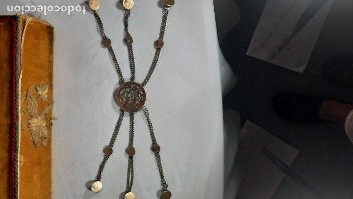 Antigüedades: hebilla de gaucho en plata de ley dorada siglo xix 170gr, rastra - Foto 4 - 286665868
