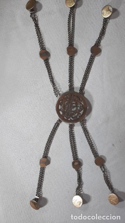 Antigüedades: hebilla de gaucho en plata de ley dorada siglo xix 170gr, rastra - Foto 5 - 286665868