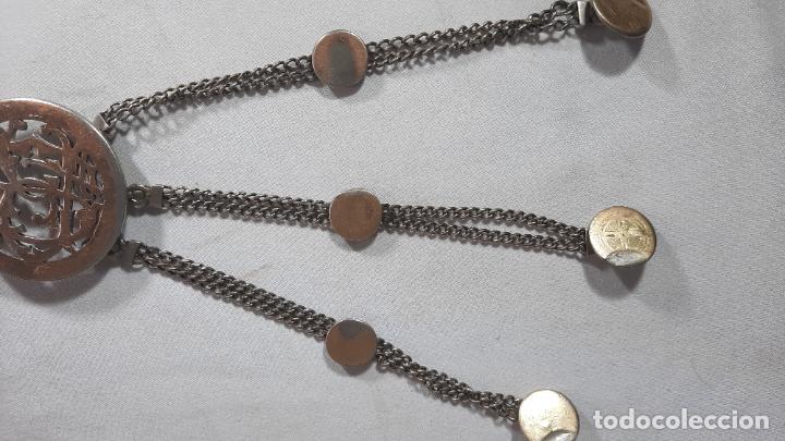 Antigüedades: hebilla de gaucho en plata de ley dorada siglo xix 170gr, rastra - Foto 6 - 286665868