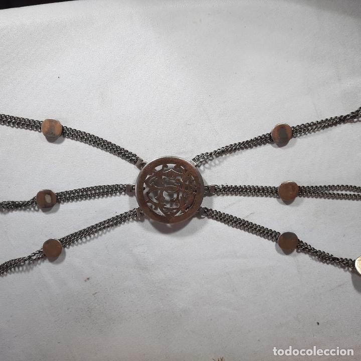 Antigüedades: hebilla de gaucho en plata de ley dorada siglo xix 170gr, rastra - Foto 7 - 286665868