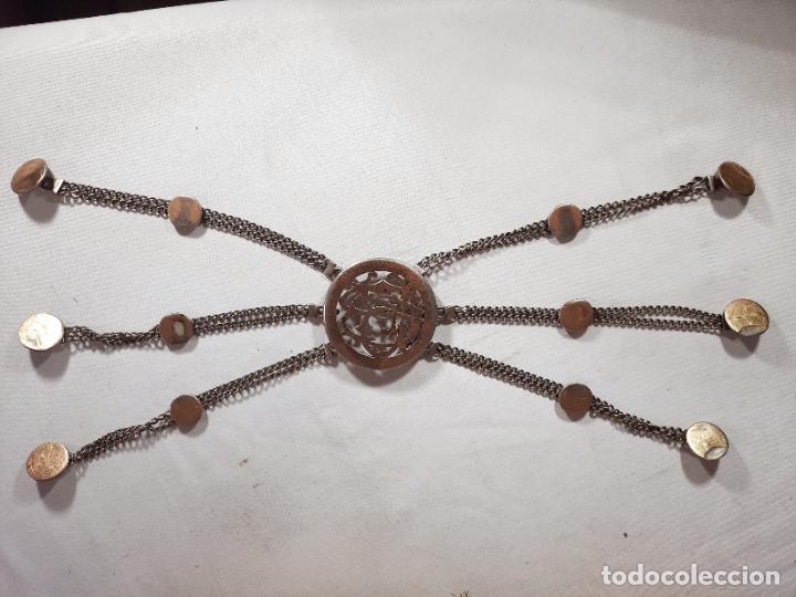 Antigüedades: hebilla de gaucho en plata de ley dorada siglo xix 170gr, rastra - Foto 2 - 286665868
