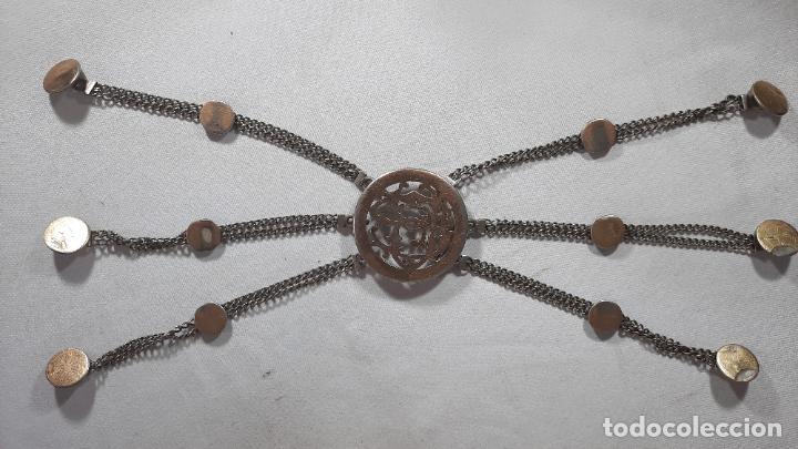 HEBILLA DE GAUCHO EN PLATA DE LEY DORADA SIGLO XIX 170GR, RASTRA (Antigüedades - Platería - Plata de Ley Antigua)