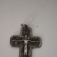 Antigüedades: CRUCIFIJO FRANCES PLATA DE LEY. Lote 286688633