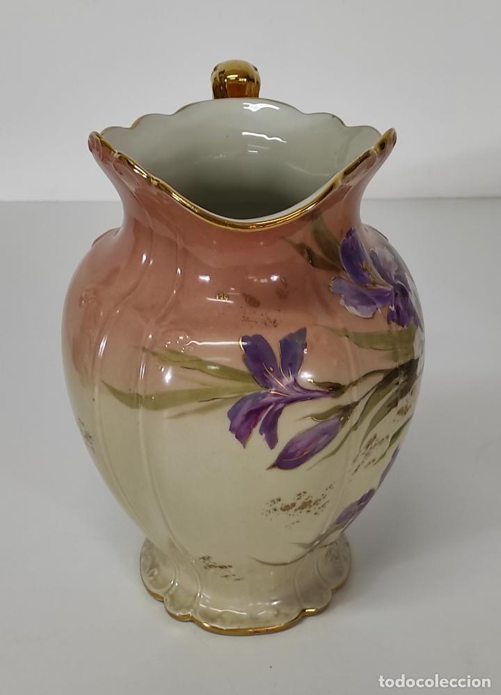 Antigüedades: Bonita Jofaina - Palangana y Jarra - Sello W.G & CO Porcelana Limoges, Francia - Principios S. XX - Foto 10 - 286695833