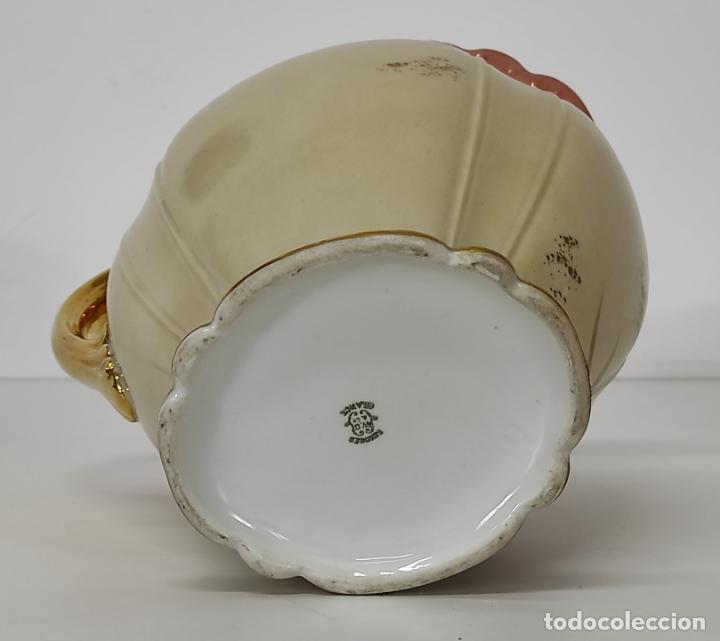 Antigüedades: Bonita Jofaina - Palangana y Jarra - Sello W.G & CO Porcelana Limoges, Francia - Principios S. XX - Foto 15 - 286695833