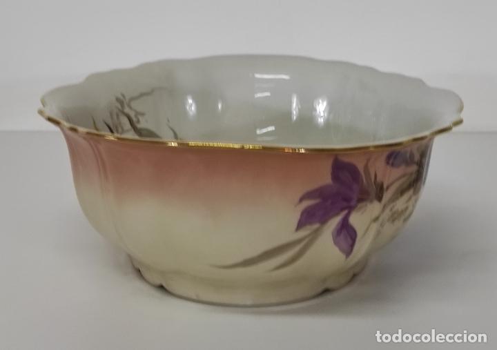 Antigüedades: Bonita Jofaina - Palangana y Jarra - Sello W.G & CO Porcelana Limoges, Francia - Principios S. XX - Foto 17 - 286695833