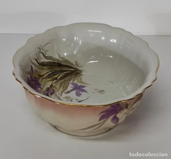 Antigüedades: Bonita Jofaina - Palangana y Jarra - Sello W.G & CO Porcelana Limoges, Francia - Principios S. XX - Foto 18 - 286695833