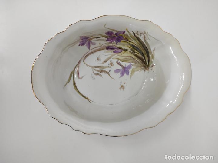 Antigüedades: Bonita Jofaina - Palangana y Jarra - Sello W.G & CO Porcelana Limoges, Francia - Principios S. XX - Foto 19 - 286695833