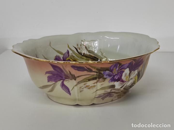Antigüedades: Bonita Jofaina - Palangana y Jarra - Sello W.G & CO Porcelana Limoges, Francia - Principios S. XX - Foto 21 - 286695833
