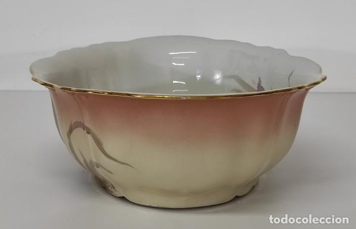 Antigüedades: Bonita Jofaina - Palangana y Jarra - Sello W.G & CO Porcelana Limoges, Francia - Principios S. XX - Foto 22 - 286695833