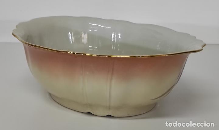 Antigüedades: Bonita Jofaina - Palangana y Jarra - Sello W.G & CO Porcelana Limoges, Francia - Principios S. XX - Foto 24 - 286695833