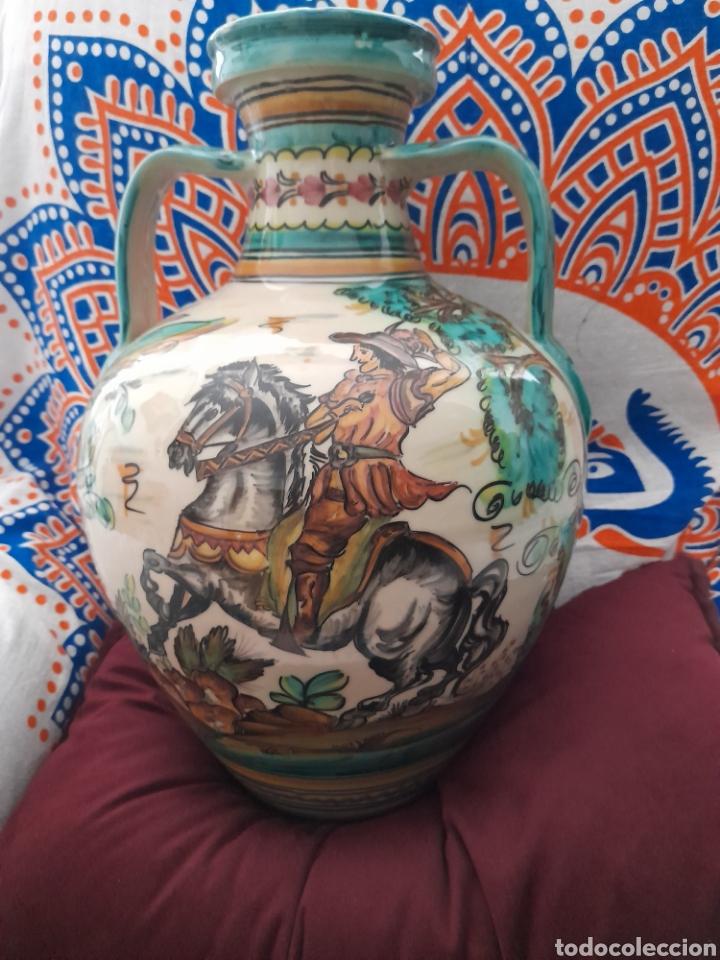 Antigüedades: Magnífico cántaro de cerámica de Puente del Arzobispo, de 44cm de altura - Foto 3 - 286782653