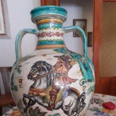 Antigüedades: MAGNÍFICO CÁNTARO DE CERÁMICA DE PUENTE DEL ARZOBISPO, DE 44CM DE ALTURA. Lote 286782653