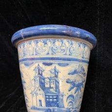 Antiquités: MACETA DE TALAVERA RUIZ DE LUNA CON DEFECTOS RESEÑADOS EN FOTO. Lote 286805793