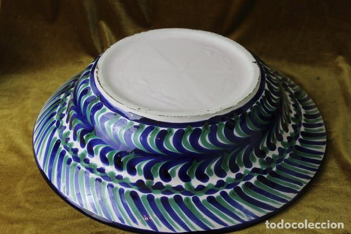 Antigüedades: Lebrillo 42 cm, jarra, y tarros de cerámica de Fajalauza - Foto 4 - 286810968