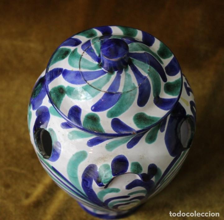 Antigüedades: Lebrillo 42 cm, jarra, y tarros de cerámica de Fajalauza - Foto 11 - 286810968