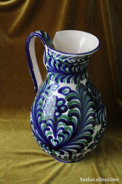 Antigüedades: Lebrillo 42 cm, jarra, y tarros de cerámica de Fajalauza - Foto 12 - 286810968